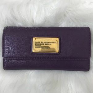 Marc By Marc Jacobs Purple Long Trifold Wallet